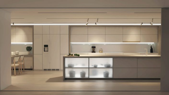 Residential kitchen picture design concept